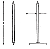 Double Pointed (Arc) Weld Pins