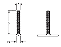Flanged Capacitor Discharge (CD) Studs - Imperial