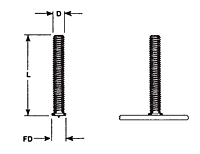 Small Flanged Capacitor Discharge (CD) Studs