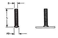Drawn Arc Flanged Threaded Capacitor Discharge (CD) Studs
