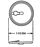 Key Hole Slotted Washer (For 3/16 in Dia. Notched End Studs)
