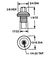 Panel Nut (For 1/4-20 Threaded Studs)