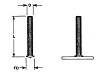 Flanged Capacitor Discharge (CD) Studs - Metric