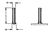 Drawn Arc Flanged No Thread Capacitor Discharge (CD) Studs