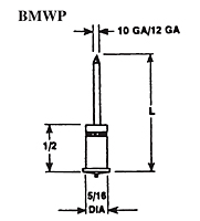 Bi-Metallic Capacitor Discharge (CD) Pin, Weld Stud