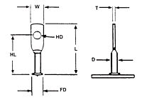 Flanged-Acoustical Hanger (Lagging Stud)