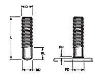 Standard Thread Arc Weld Studs